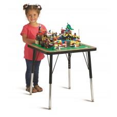 "Jonti-Craft® Adjustable Building Table – Traditional Brick Compatible – 15-24""H"