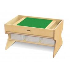 Jonti-Craft® Deluxe Building Table  - Preschool Brick Compatible