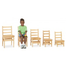 "Jonti-Craft® KYDZ Ladderback Chair Pair - 14"" Height"