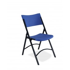 Blue Blow Molded Folding Chairs Carton of 4