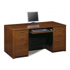 "Embassy 66"" Executive desk kit in Tuscany Brown"