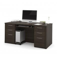 "Embassy 66"" Executive desk kit in Dark Chocolate"