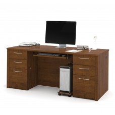 "Embassy 71"" Executive desk kit in Tuscany Brown"