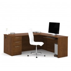 "Embassy 71"" L-shaped desk in Tuscany Brown"