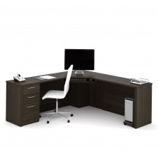 Embassy Corner Desk in Dark Chocolate