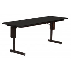 "3/4"" High Pressure Folding Seminar Table with Panel Leg - 24x96"" - Black Granite"
