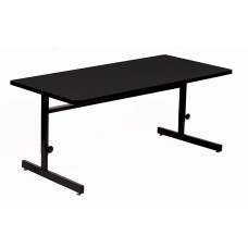 "1 1/8"" Melamine Top Computer/Training Tables - 30x60"" Trap - Gray Granite"