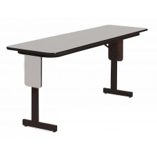 "3/4"" High Pressure Folding Seminar Table with Panel Leg - 18x96"" - Gray Granite"