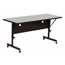 "Deluxe High Pressure Top Flip Top Table - 24x72"" - Gray Granite"