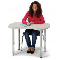 """Berries® Collaborative Bowtie Table - 24"""" X 35"""" - Gray/Gray"""