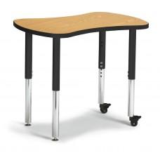 """Berries® Collaborative Bowtie Table - 24"""" X 35"""" - Oak/Black"""