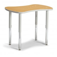 "Berries® Collaborative Bowtie Table - 24"" X 35"" - Oak/Gray"