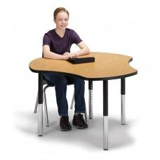 "Berries® Collaborative Hub Table - 44"" X 47"" - Oak/Black"