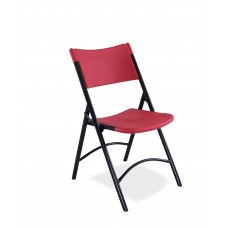 Red Blow Molded Folding Chairs Carton of 4