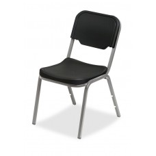 4 Pack Stack Chair, Black