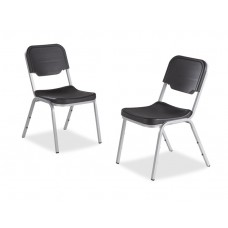 4 Pack Stack Chair, Charcoal