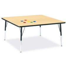 """Berries® Square Activity Table - 48"""" X 48"""", A-height - Maple/Black/Black"""