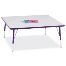 "Berries® Square Activity Table - 48"" X 48"", E-height - Gray/Purple/Purple"
