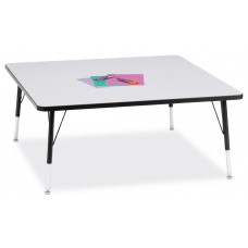 """Berries® Square Activity Table - 48"""" X 48"""", E-height - Gray/Black/Black"""