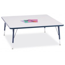 """Berries® Square Activity Table - 48"""" X 48"""", T-height - Gray/Navy/Navy"""