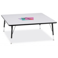 """Berries® Square Activity Table - 48"""" X 48"""", T-height - Gray/Black/Black"""