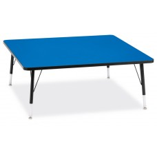 """Berries® Square Activity Table - 48"""" X 48"""", T-height - Blue/Black/Black"""