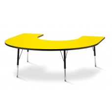 "Berries® Horseshoe Activity Table - 66"" X 60"", A-height - Yellow/Black/Black"