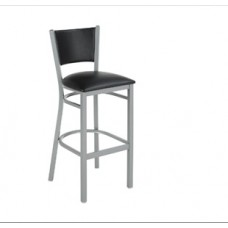 Bistro Metal Stool with padded back and seat
