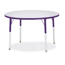 "Berries® Round Activity Table - 42"" Diameter, A-height - Gray/Purple/Purple"