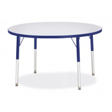 "Berries® Round Activity Table - 42"" Diameter, E-height - Gray/Blue/Blue"
