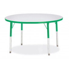 "Berries® Round Activity Table - 42"" Diameter, E-height - Gray/Green/Green"