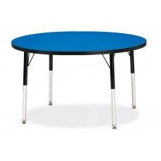 "Berries® Round Activity Table - 42"" Diameter, E-height - Blue/Black/Black"