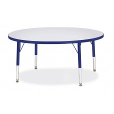 "Berries® Round Activity Table - 42"" Diameter, T-height - Gray/Blue/Blue"