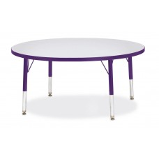 "Berries® Round Activity Table - 42"" Diameter, T-height - Gray/Purple/Purple"