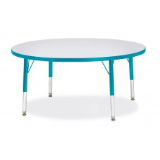 "Berries® Round Activity Table - 42"" Diameter, T-height - Gray/Teal/Teal"