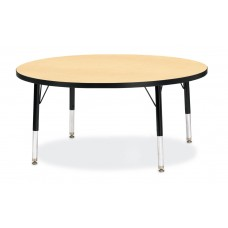 "Berries® Round Activity Table - 42"" Diameter, T-height - Maple/Black/Black"