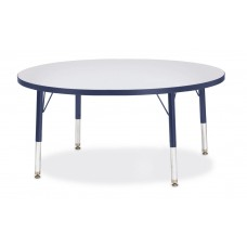 "Berries® Round Activity Table - 42"" Diameter, T-height - Gray/Navy/Navy"