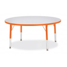 "Berries® Round Activity Table - 42"" Diameter, T-height - Gray/Orange/Orange"
