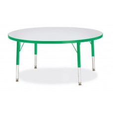 "Berries® Round Activity Table - 42"" Diameter, T-height - Gray/Green/Green"