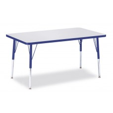 "Berries® Rectangle Activity Table - 30"" X 48"", A-height - Gray/Blue/Blue"