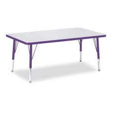 """Berries® Rectangle Activity Table - 30"""" X 48"""", T-height - Gray/Purple/Purple"""