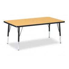 "Berries® Rectangle Activity Table - 30"" X 48"", T-height - Oak/Black/Black"