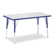 """Berries® Rectangle Activity Table - 24"""" X 36"""", A-height - Gray/Blue/Blue"""