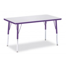 """Berries® Rectangle Activity Table - 24"""" X 36"""", A-height - Gray/Purple/Purple"""