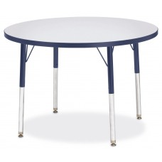"Berries® Round Activity Table - 36"" Diameter, A-height - Gray/Navy/Navy"