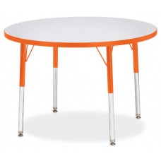 "Berries® Round Activity Table - 36"" Diameter, A-height - Gray/Orange/Orange"