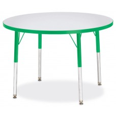 "Berries® Round Activity Table - 36"" Diameter, A-height - Gray/Green/Green"