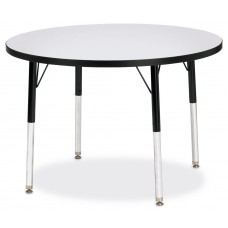 "Berries® Round Activity Table - 36"" Diameter, A-height - Gray/Black/Black"