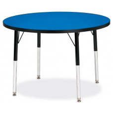 "Berries® Round Activity Table - 36"" Diameter, A-height - Blue/Black/Black"