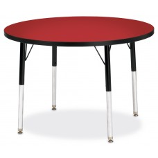 "Berries® Round Activity Table - 36"" Diameter, A-height - Red/Black/Black"